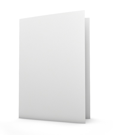 Blank folder with paper texture  Isolated on white  Clipping path included for easy and precise selection  Stock Photo