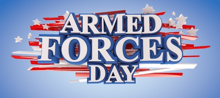 Armed Forces Day with clipping path included for easy selection