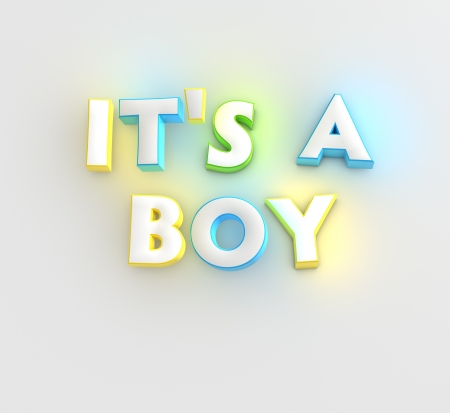 It s a Boy new baby greeting card