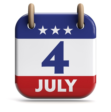 july calendar: Independence Day
