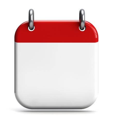 Agenda leeg 3D pictogram geïsoleerd op wit. Stockfoto