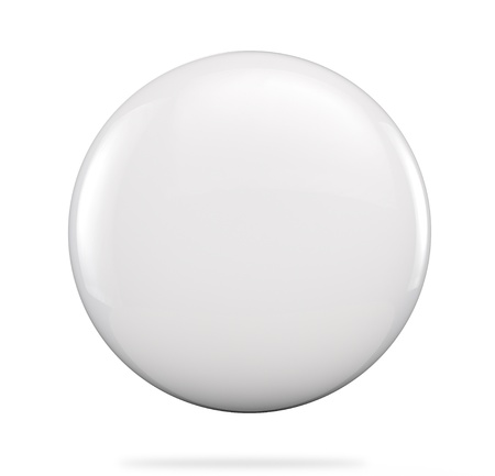 Blanks badge button .Clipping path included for easy selection. Stock Photo