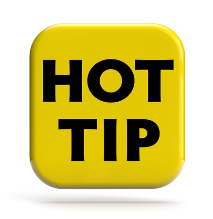 Hot tip icon isolated on white
