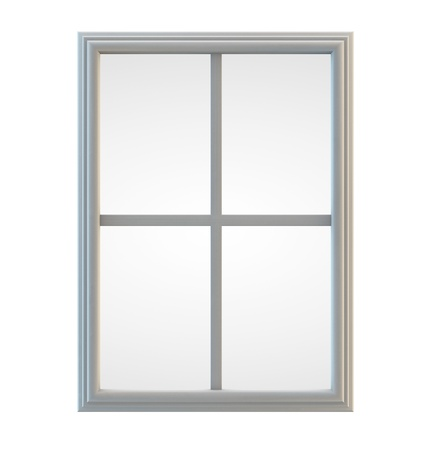 White window frame isolated  Clipping path included for precise selection