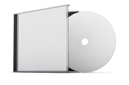 Blank CD   DVD mock up set  Clipping path included for easy selection  Stock Photo