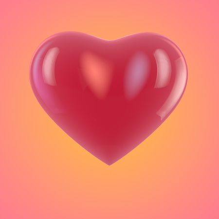 Valentine greeting card with a heart