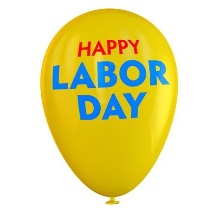 Labor Day yellow ballon isolated