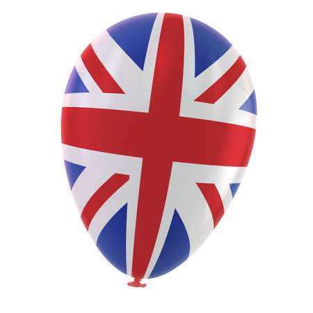 Britain flag balloon isolated on white  photo