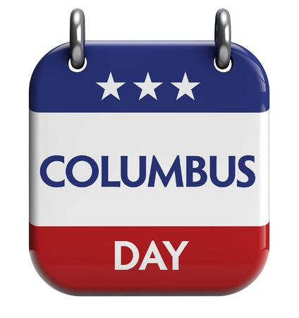 christopher columbus: Columbus Day isolated calendar icon