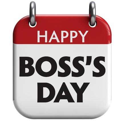 Gelukkig Boss's Day Stockfoto