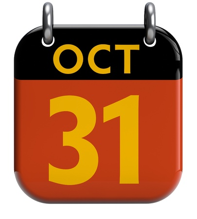 oct 31: Halloween del 31 de octubre la p�gina del calendario