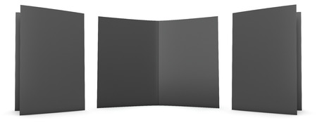 double page spread: Folder stationery mock up  Clipping path included  Stock Photo