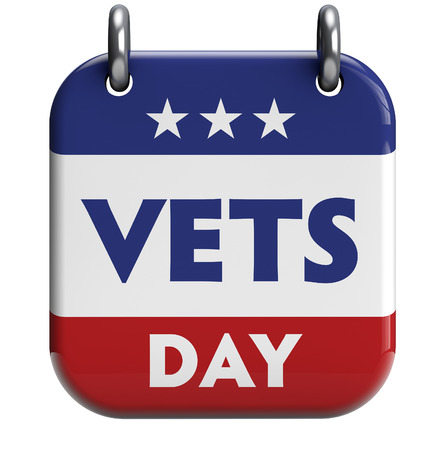 Veterans Day isolated calendar icon  Clipping path included for easy selection