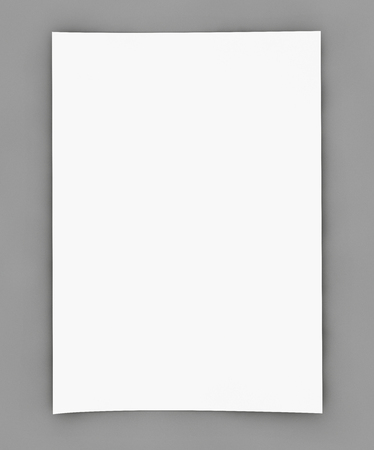 Blank white page on grey
