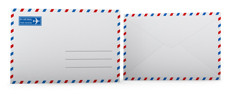 Blank envelope template  Clipping path included for easy selection