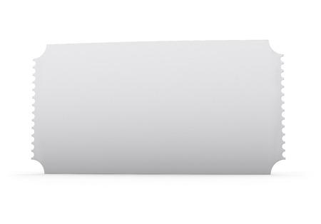 Ticket blank template isolated on white  Standard-Bild