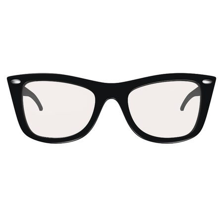 bifocals: Black glasses isolated on white  Clipping path lincluded