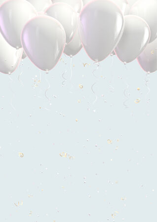 White balloons photo