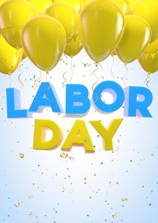 labor day: Labor Day balloons design