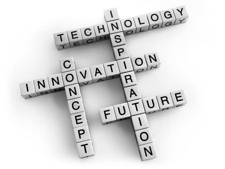 Technology and innovation crossword concept