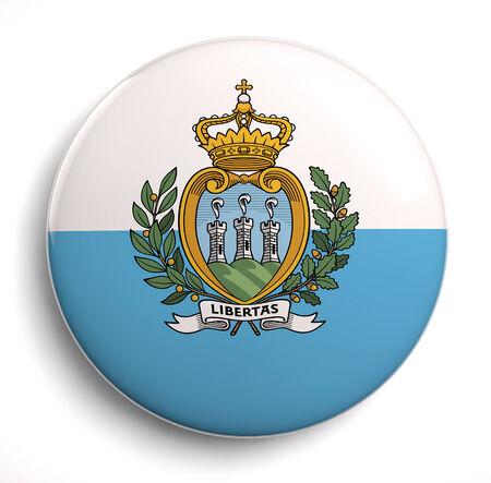 san marino: San Marino flag icon. Stock Photo