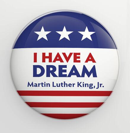 I Have a Dream badge illustration  Stock Photo