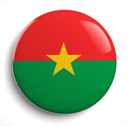 burkina faso: Burkin Faso flag icon. Clipping path included.