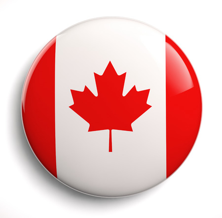 canadian state flag: Canada flag icon. Clipping path included.