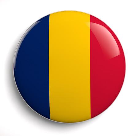 chadian: Chad flag icon. Stock Photo