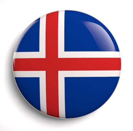 the icelandic flag: Iceland flag icon.