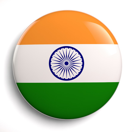 India flag icon. Banque d'images