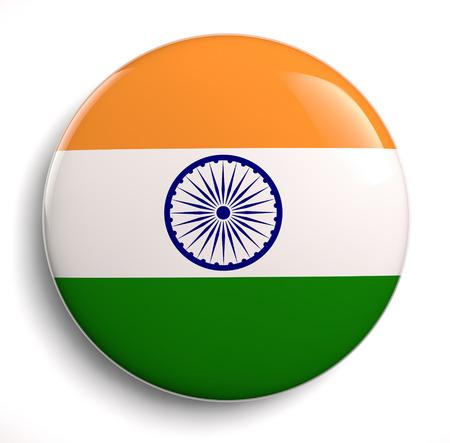 India flag icon. Stock Photo
