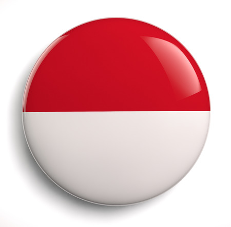 Indonesia flag icon. Clipping path included.
