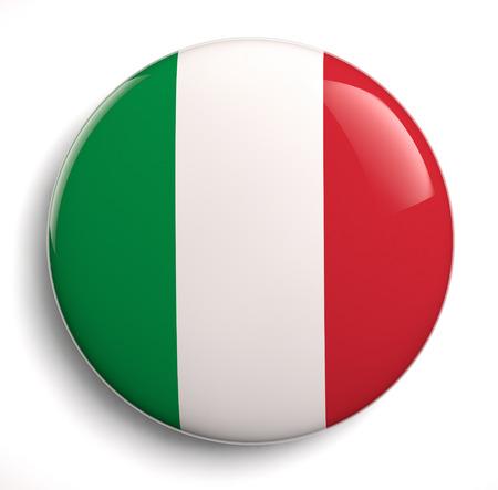 bandera de italia: Icono de diseño de la bandera italiana.