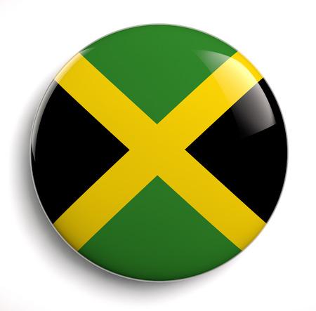 jamaican flag: Jamaica flag icon. Clipping path included.