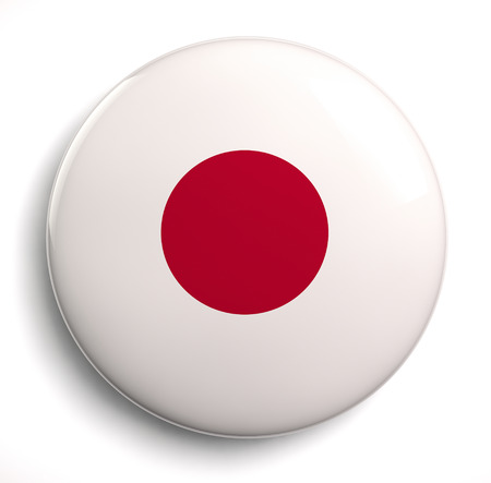 Japanese flag design icon. Clipping path included. photo