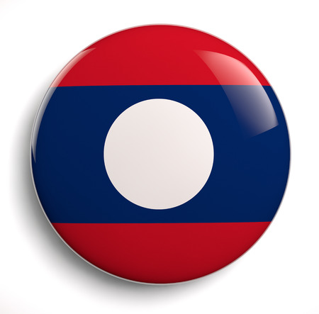 lao: Laos Flag icon. Clipping path included.