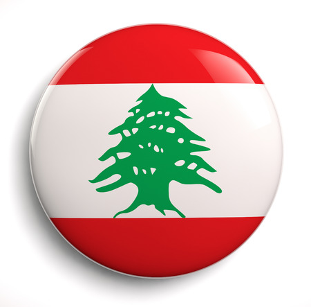 Lebanon flag icon.  photo