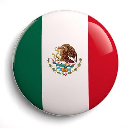 mexico flag: Mexican flag design icon.