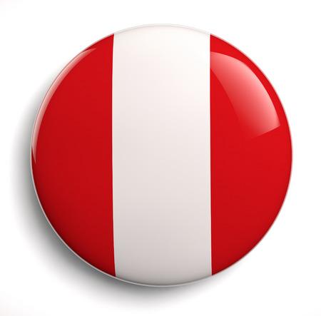 bandera de peru: Aislado icono de la bandera peruana. Trazado de recorte incluido.