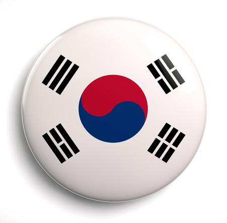 korea flag: South Korean flag design icon. Clipping path included.