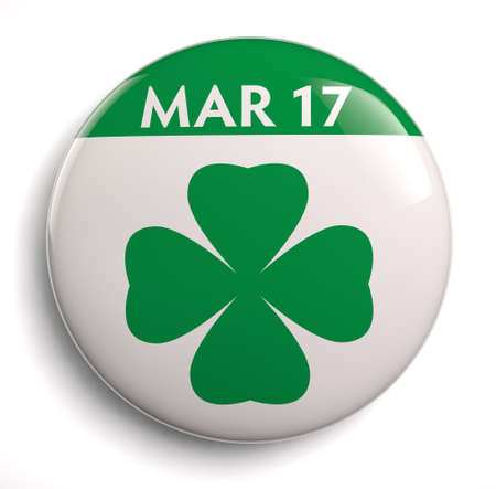 march 17: St. Patricks Day March 17 icon. Stock Photo