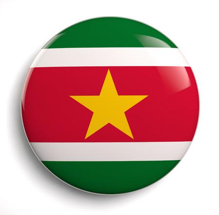 suriname: Suriname flag icon.  Stock Photo