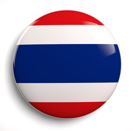 Vlag van Thailand icoon. Stockfoto