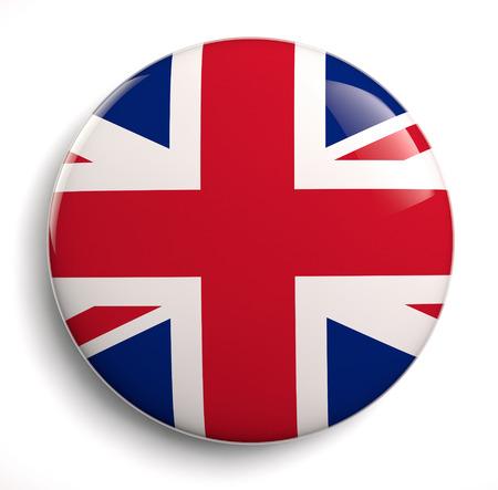 symbol british: British flag icon. Stock Photo