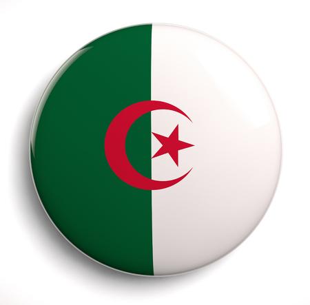 algerian flag: Algeria flag icon isolated on white.