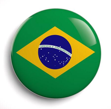 brazilian flag: Brazilian flag symbol isolated on white.