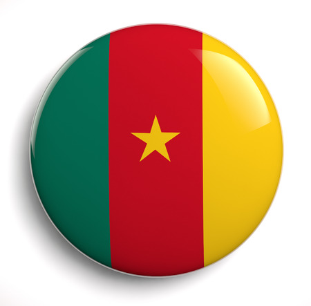 cameroonian: Cameroonian flag symbol on white. Stock Photo