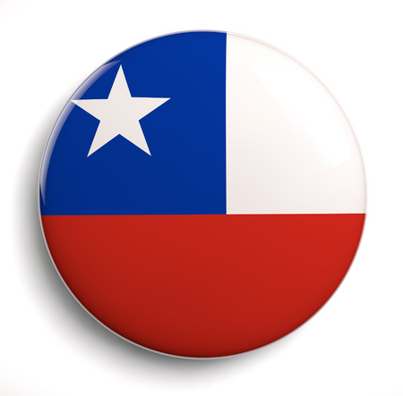 Chilean flag icon isolated on white. photo
