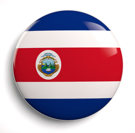 rican: Costa Rican flag isolated.